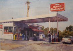 Gas Station with Corolla, Copyright 2010, Max Bechtle