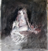 Nude in Interior, Copyright 2009, Gail Chadell Nanao