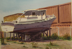 Oakland Boat Yard, Copyright 2010, Max Bechtle