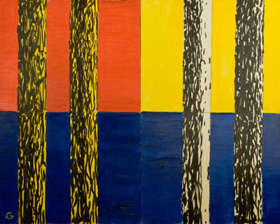 Pinetum III (Red, Yellow, Blue), Copyright 2008, Irving Guyer