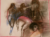 Pink & Figures, Copyright 2009, Gail Chadell Nanao