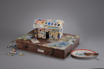 Cabin on a Paint Box, Copyright 2007, b sakata garo