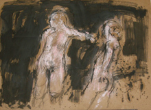 Two Figures, Copyright 2009, Gail Chadell Nanao